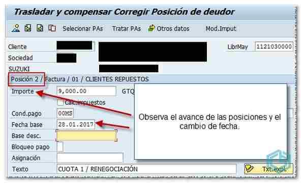 Posición 2 en renegociación de deudas en SAP