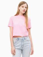 organic cotton logo cropped t-shirt