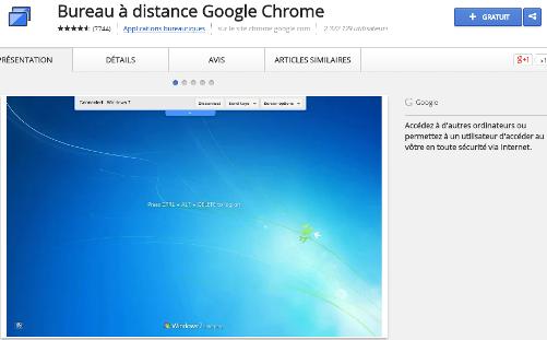 Accédez à votre ordinateur en toute sécurité depuis votre appareil iOS. C'est rapide, simple et gratuit. • Téléchargez l'application Bureau à distance Chrome, qui est disponible sur le Chrome Web Store, sur l'ordinateur auquel vous souhaitez accéder à distance.