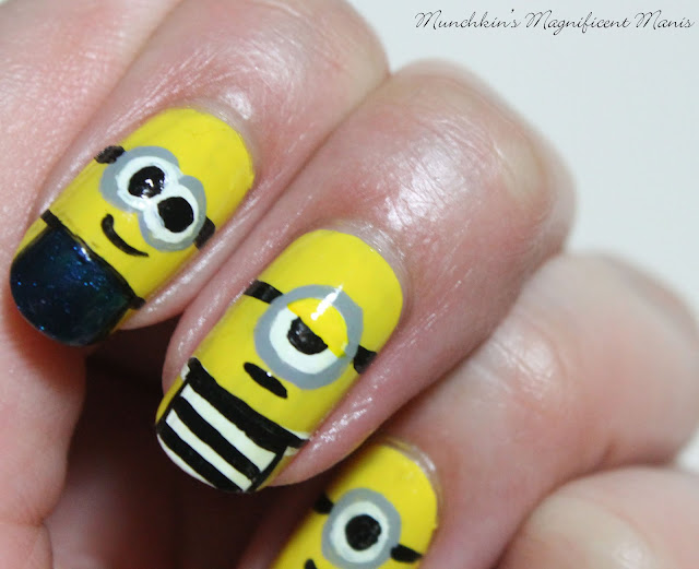 Despicable Me, Minions Nail Design
