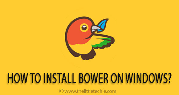 How to install bower on windows?
