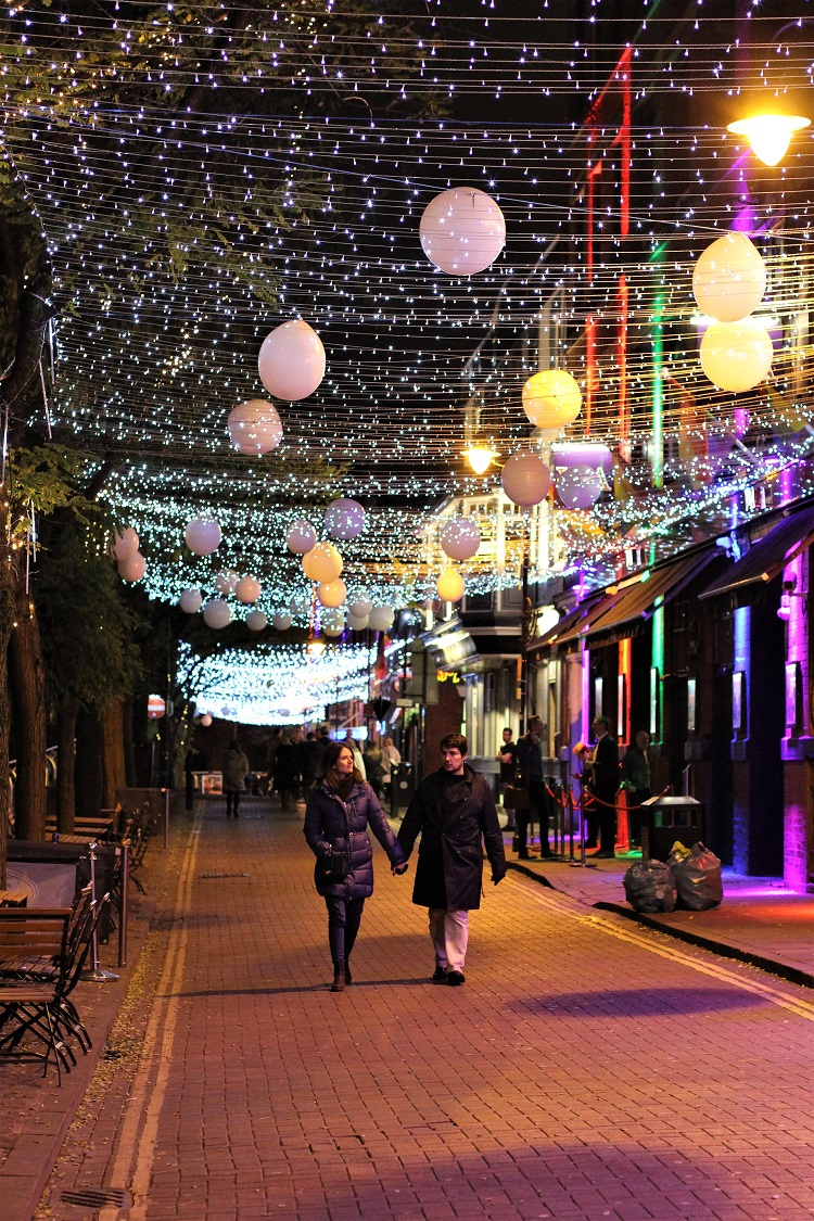 Canal Street at night, Manchester weekend - UK travel blog