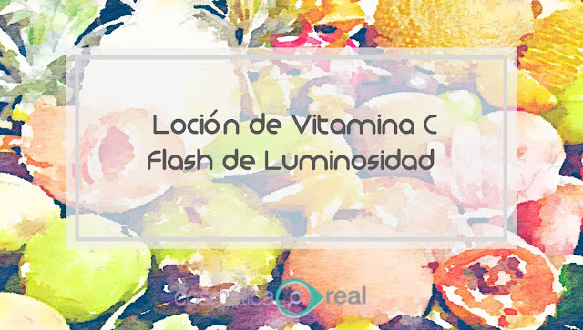 Loción casera de vitamina C. Flash Concentrado de Luminosidad