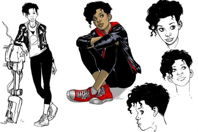 Riri Williams Model Sketch