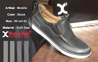 Jual sepatu casual kulit murah warna hitam