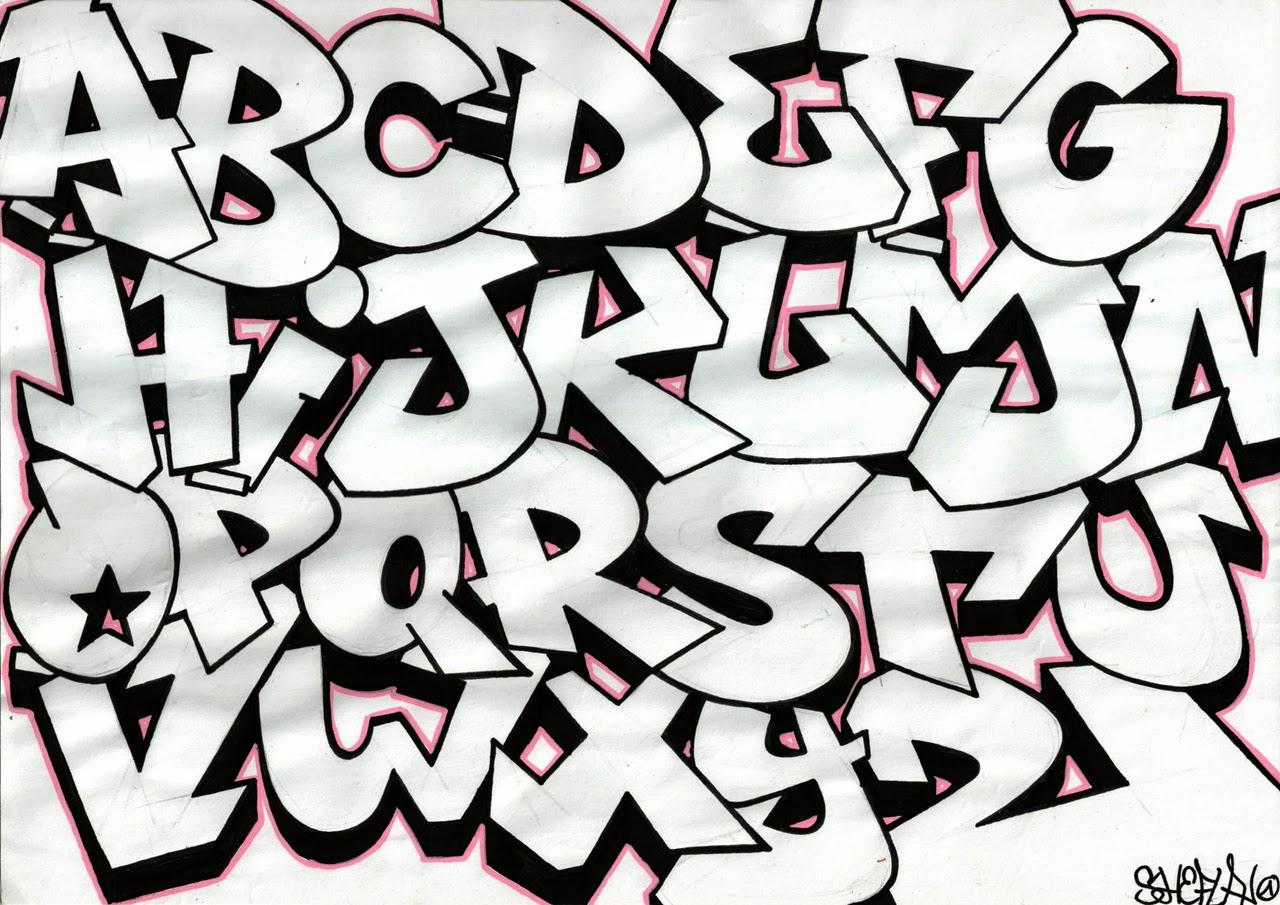 Abjad graffiti a z