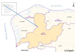 Situacion de la cuenca hidrografica del miño