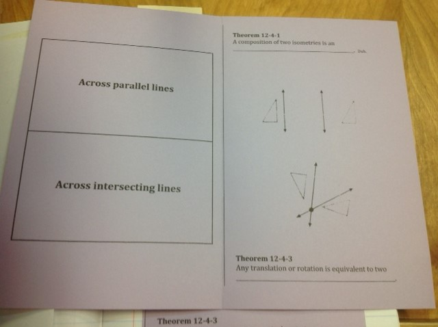Math Love GUEST POST Composition Of Transformations Foldable