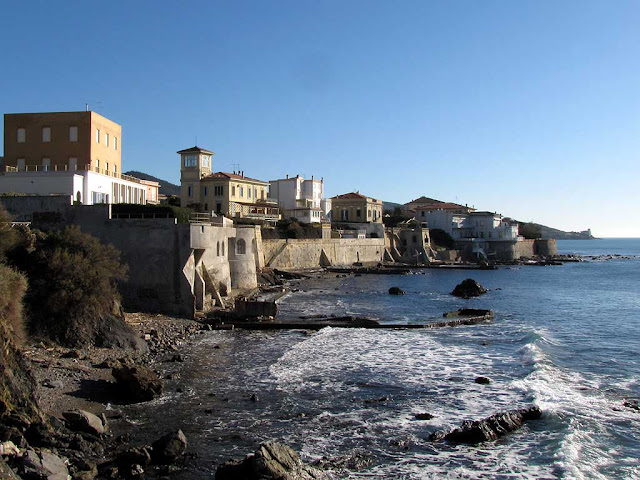 Coast and villas by the sea, Antignano, Livorno