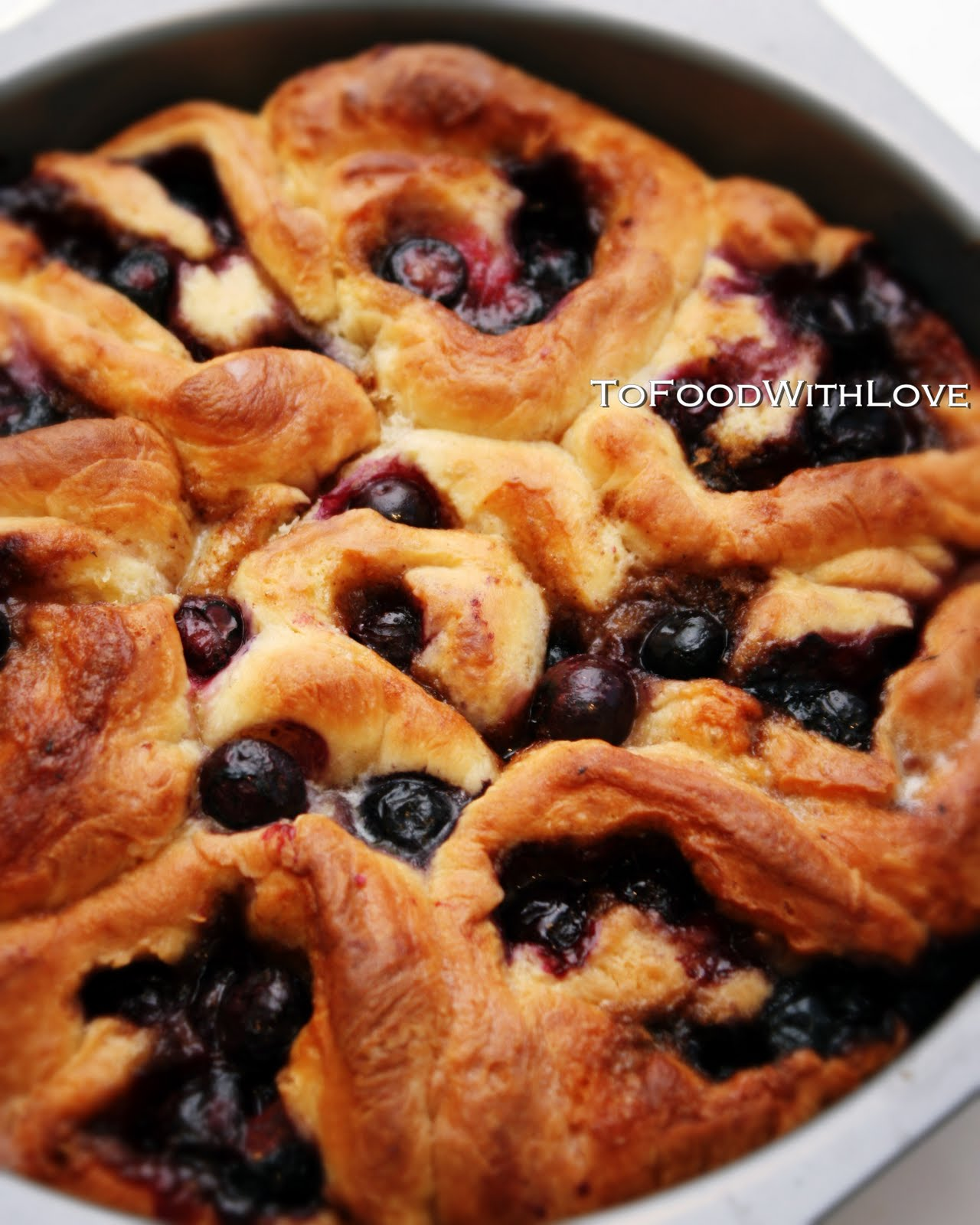 To Food With Love Soft Blueberry Sticky Buns