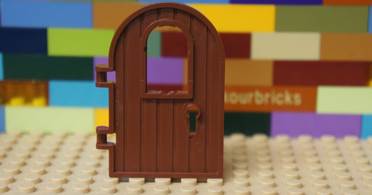 LEGO 3 x Holztür rotbraun Reddish Brown Door 1x4x6 Reinforced Edge 64390