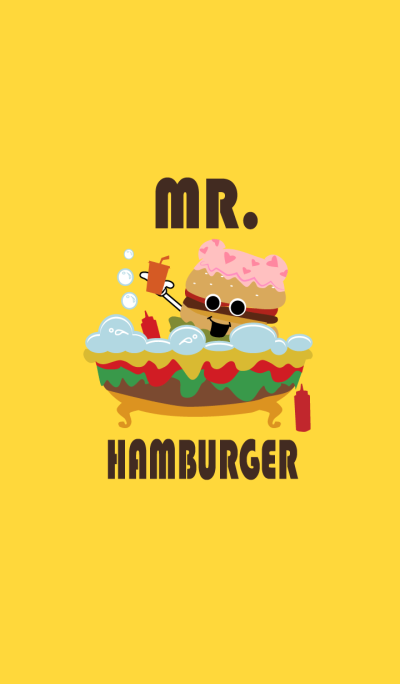 Mr.Hamburger with his friends