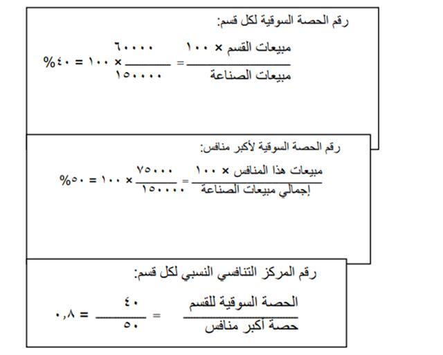 حساب القسم الأول
