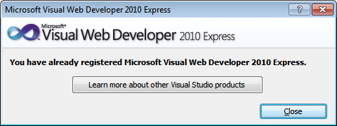 registration key for vb 2010 express edition