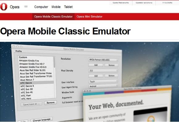 Opera-mobile-emulator