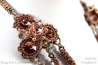 "Beaded necklace ""Quadrille"" - beaded by PrettyNett.de"
