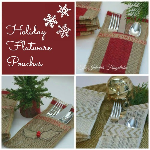 How to Make Holiday Flatware Pouches