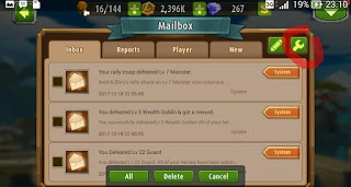Tips delete semua inbox pada games magic rush
