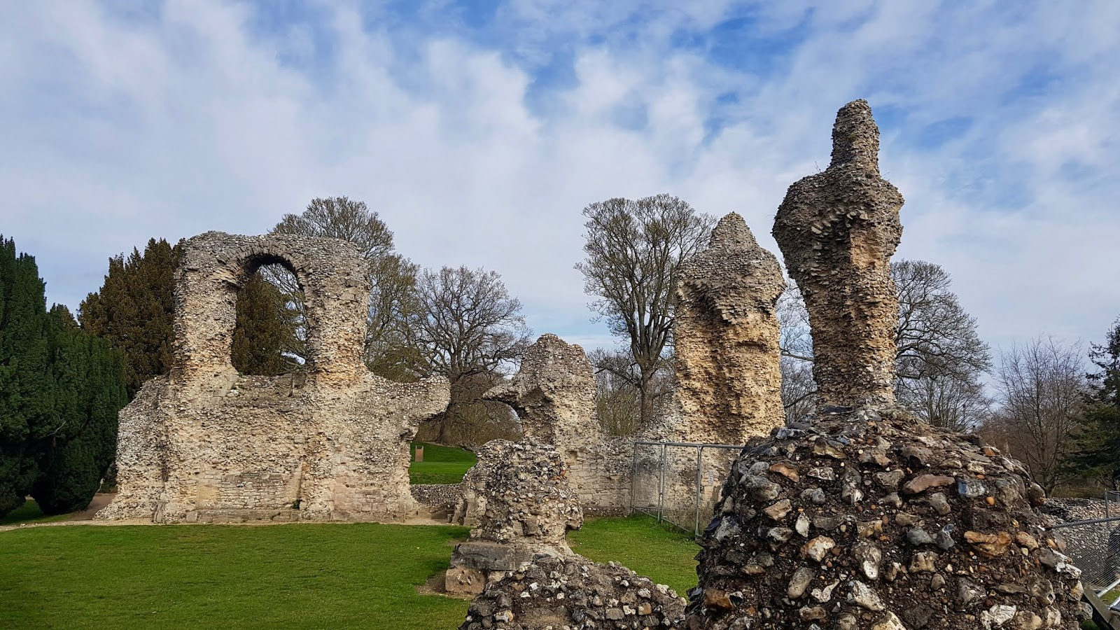 The ruins of Bury St Edmunds Abbey in the Abbey Gardens