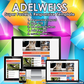 adelweiss blogger template super fast