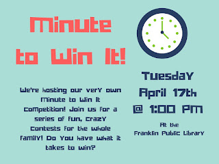 "Franklin Library - ""Minute to Win It"""