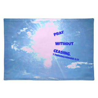 Pray without ceasing place mat