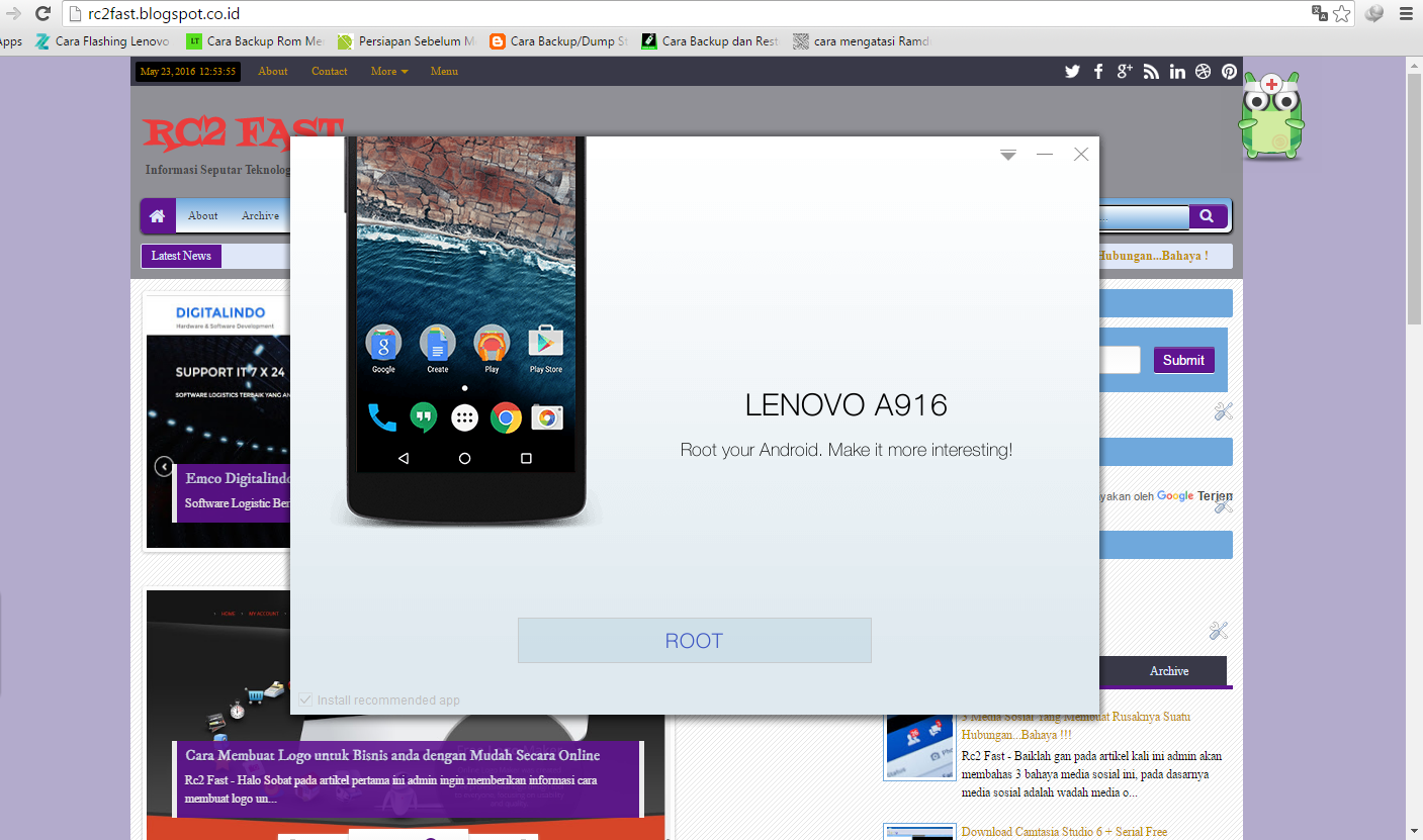 Cara Root semua Android dengan Kingo Root 100% Work + Free