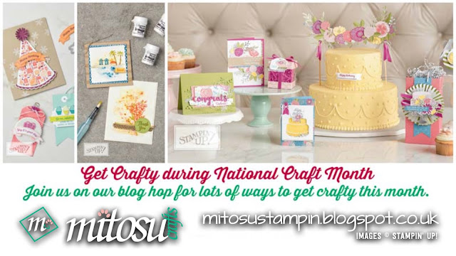 National Craft Month Blog Hop with Stampin' Up! products order craft supplies from Mitosu Crafts UK Online Shop
