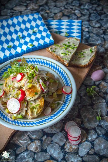 Salat aus Weißwurst, Radieschen - so lecker