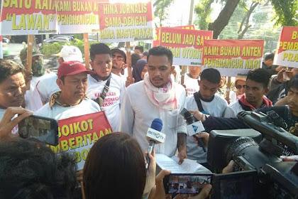Sekelompok wartawan gelar demo tuntut prabowo minta maaf
