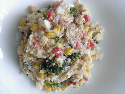 Tuńczyk z ryżem i warzywami