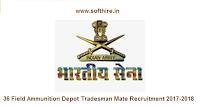 36 Field Ammunition Depot Tradesman Mate Recruitment