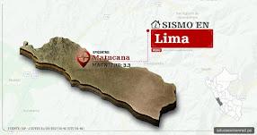 Temblor en Lima de 3.3 Grados (Hoy Jueves 21 Septiembre 2017) Sismo EPICENTRO Matucana - Huarochirí - IGP - www.igp.gob.pe