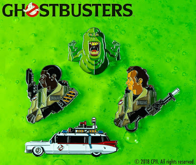 San Diego Comic-Con 2018 Exclusive Ghostbusters Enamel Pins by Tom Whalen x Mondo