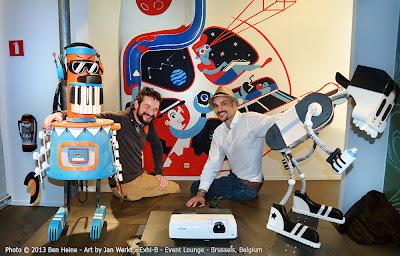 Artists Jan Werkt and Ben Heine at Exhi-B at The Event Lounge - Brussels, Belgium - October 2013
