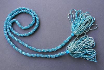 купить лариат, жгут из бисера, длинное ожерелье украина