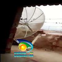 Vento forte arranca antena parabólica de casa em Picuí, assista ao vídeo