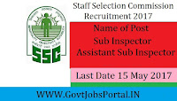 Staff Selection Commission Delhi Police Recruitment 2017-18 of Sub Inspector / Assistant Sub Inspector