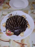 gâteau hérisson chocolat