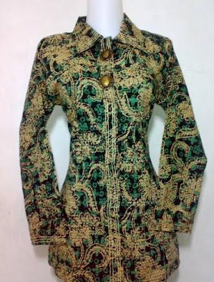 Foto Desain Baju Batik Kerja Mewah