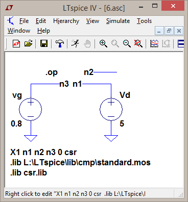 Basics of MOSFET Models and Circuits with LabVIEW: January 2016