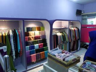 Produksi Furniture Interior Toko Hijab Krudung Gamis
