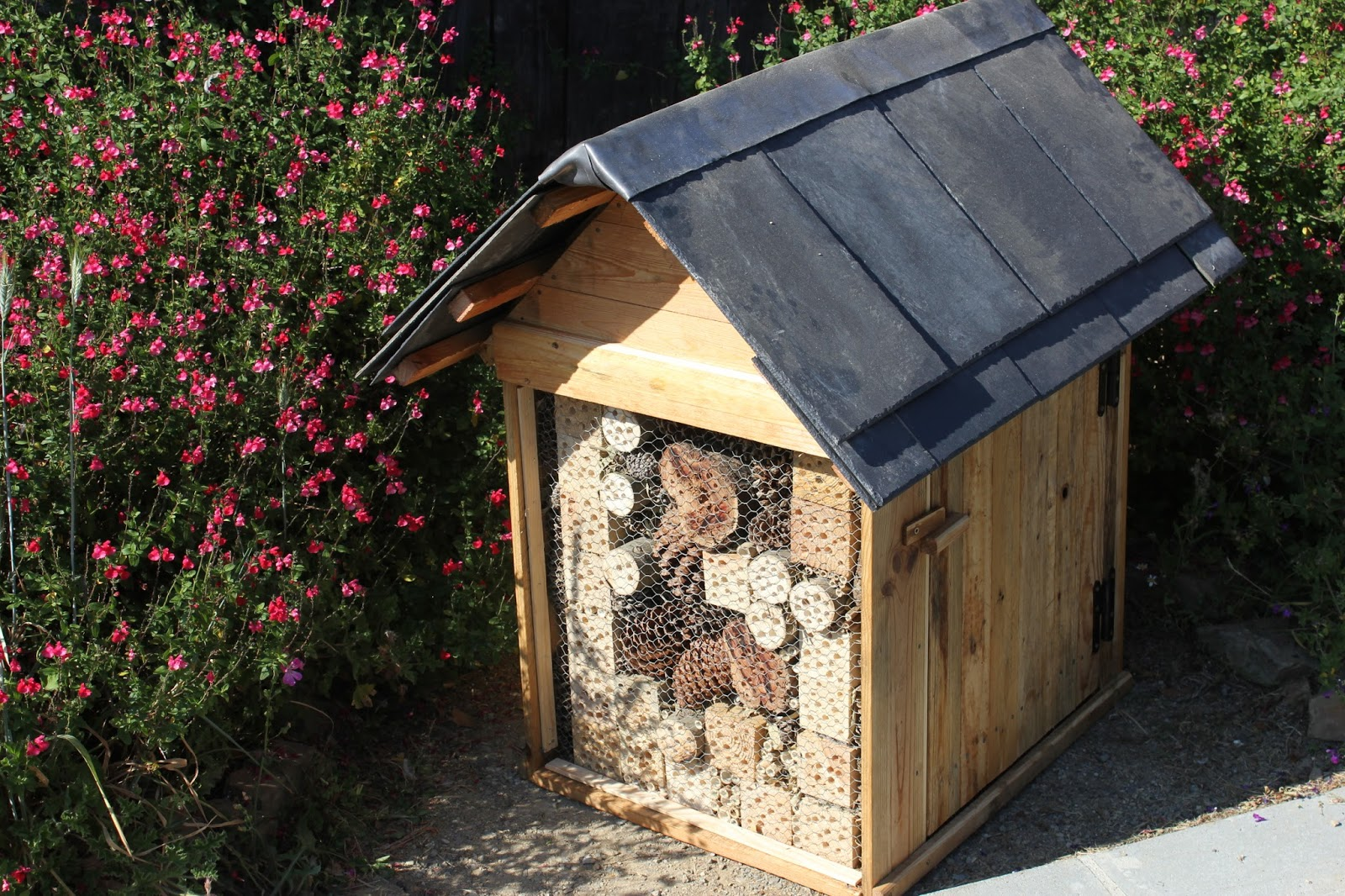 Insect hotel cover for utility box