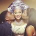 Adorable photo of Austin Okocha's wife and their children