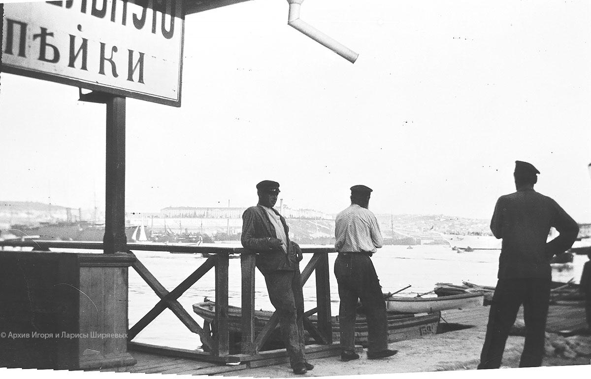 Старое фото Крыма. Лодки