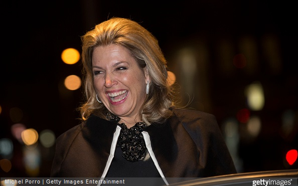 Queen Maxima of The Netherlands leaves after the final concert of Latvian conductor Mariss Jansons with the Royal Concertgebouw Orchestra