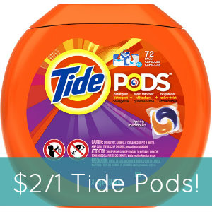 High-Value $2/1 Tide Pods Coupon