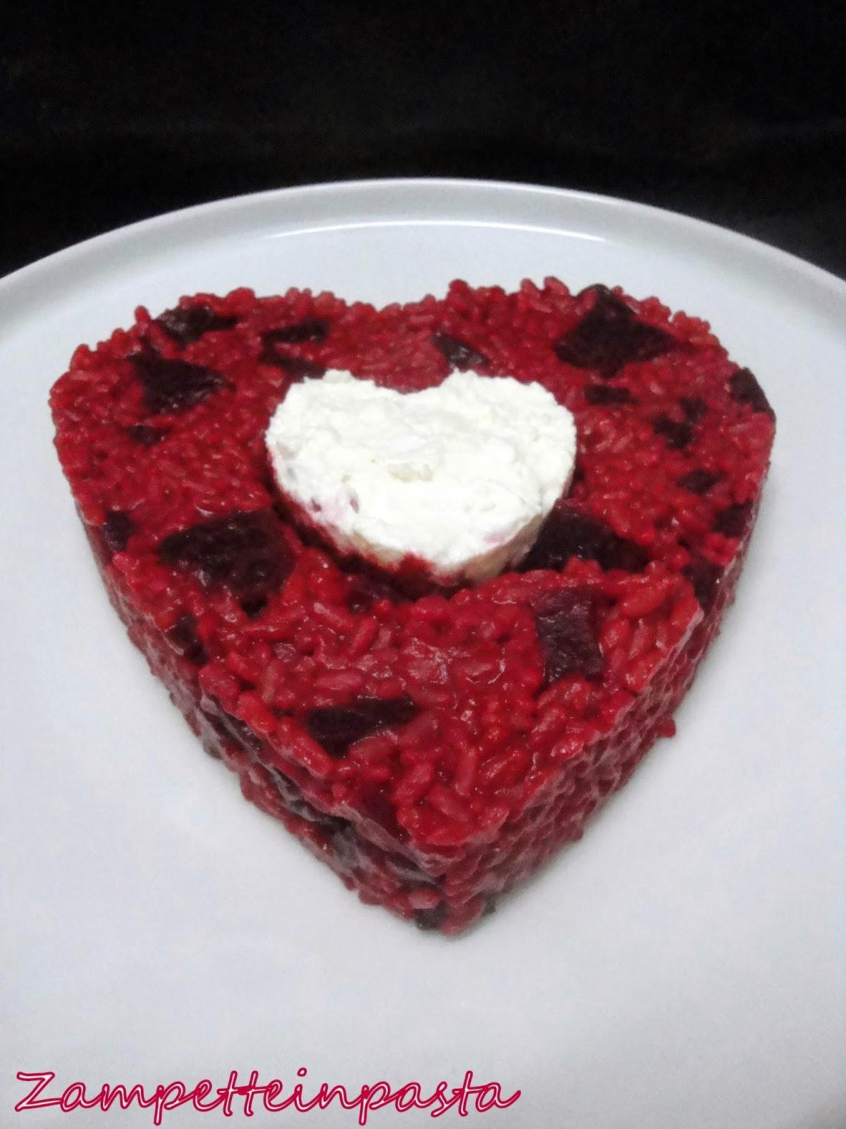 Risotto alla barbabietola - Ricetta San Valentino