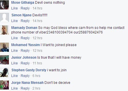 Fraudsters are using Illuminati to scam unsuspecting victims on Facebook