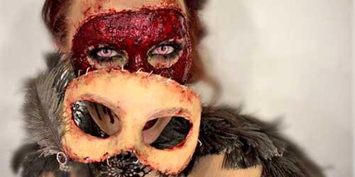 antifaz maquillaje halloween